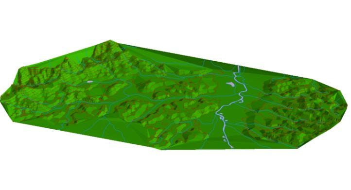 Ukázka 3D modelu terénu