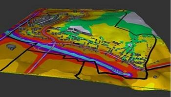 Hluková 3D mapa Nového Lískovce