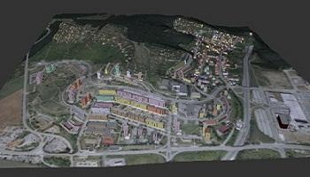3D vizualizace Nového Lískovce