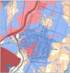 Klasifikace ohrožení částí obce Troubky