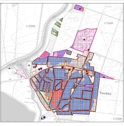 Povodňové riziko obce Troubky pro průtok Q20
