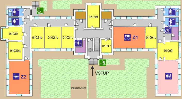 Interaktivní plán přízemí budovy č.5